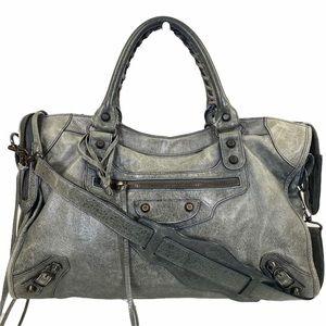 Balenciaga crossbody bag The city Gray leather
